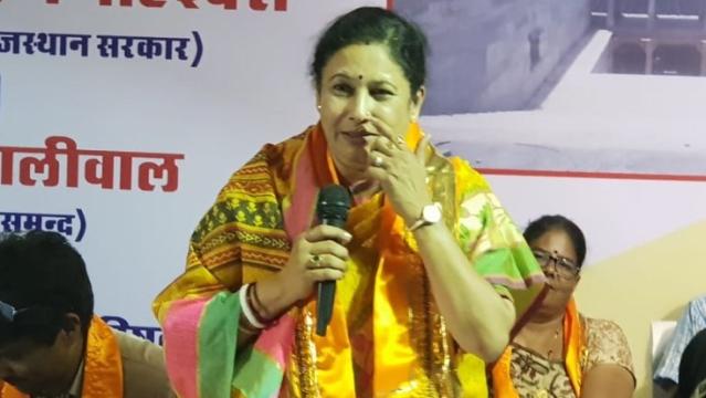 राजस्थान की शिक्षा मंत्री किरण माहेश्वरी