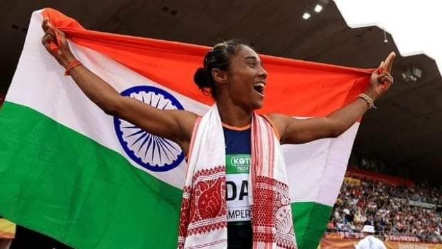 आईएएएफ की ट्रैक स्पर्धा में हिमा दास ने जीता गोल्ड मेडल