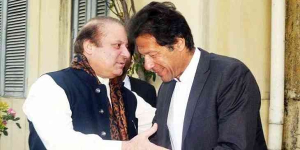 पाकिस्तान के पूर्व प्रधानमंत्री नवाज शरीफ और पाकिस्तान तहरीके इंसाफ पार्टी के नेता इमरान खान