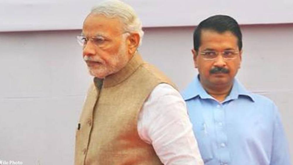 प्रधानमंत्री नरेंद्र मोदी और दिल्ली के मुख्यमंत्री अरविंद केजरीवाल की फाइल फोटो