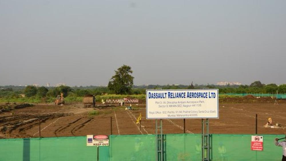 महाराष्ट्र के नागपुर के पास दसॉल्ट रिलायंस एयरोस्पेस की जमीन। यहीं बनना है राफेल विमान के कलपुर्जे
