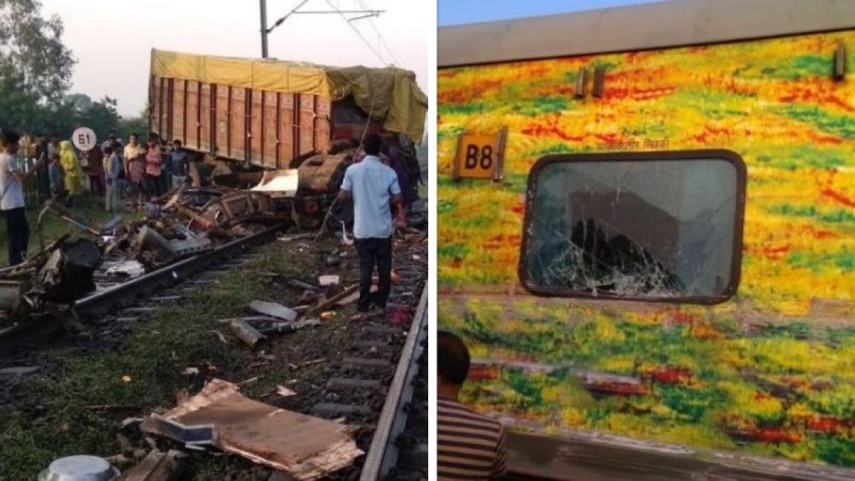 मध्य प्रदेश: झाबुआ में रेल हादसा, राजधानी एक्सप्रेस से टकराया ट्रक, दो डिब्बे पटरी से उतरे