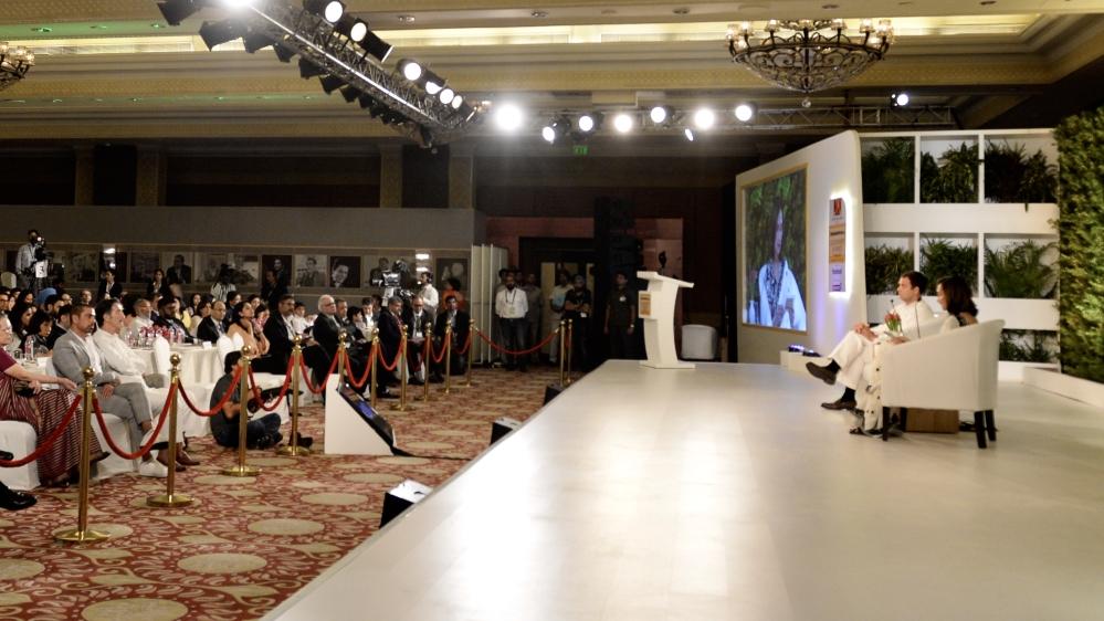 हिंदुस्तान टाइम्स लीडरशिप समिट में कांग्रेस अध्यक्ष राहुल गांधी