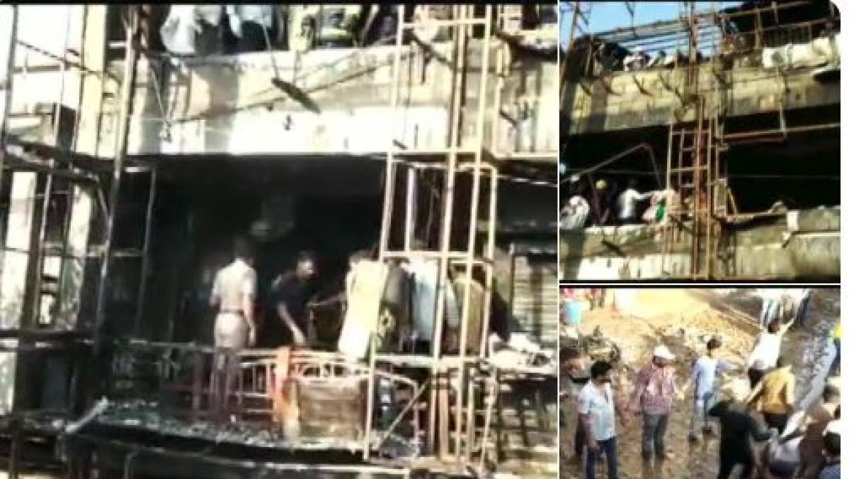 गुजरात: सूरत के तक्षशिला कॉम्प्लेक्स में लगी भीषण आग, 19 की मौत,  जान बचाने के लिए इमारत से कूदे बच्चे