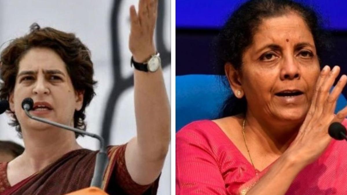 आर्थिक मंदी को लेकर प्रियंका का सीतारमण पर हमला, 'ओला-उबर की वजह से रोजगार बढ़ा या मंदी, बीजेपी है भ्रमित'
