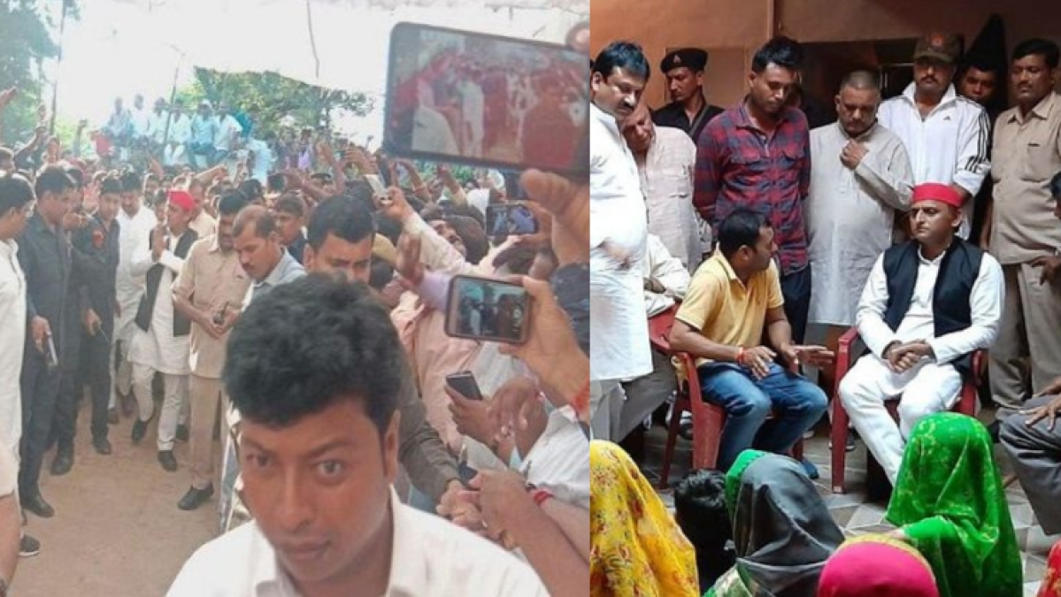 उत्तर प्रदेश: मृतक पुष्पेंद्र यादव के परिजनों से अखिलेश की मुलाकात ने लिया सियासी रंग, पुलिस के हाथ-पांव फूले