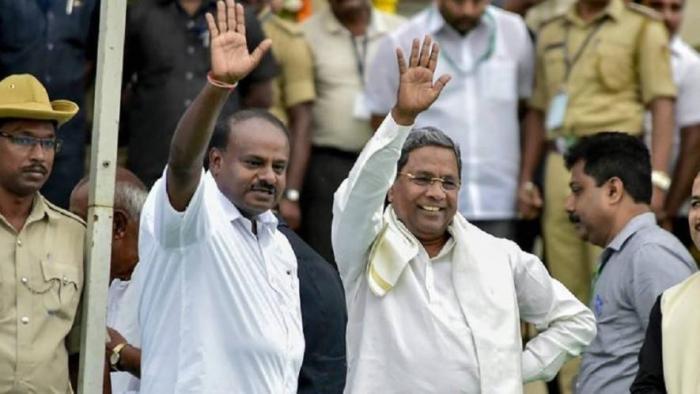 कर्नाटक उपचुनाव: कांग्रेस-जेडीएस गठबंधन को मिला दिवाली गिफ्ट, 5 में से 4 सीटों पर बीजेपी को दी मात