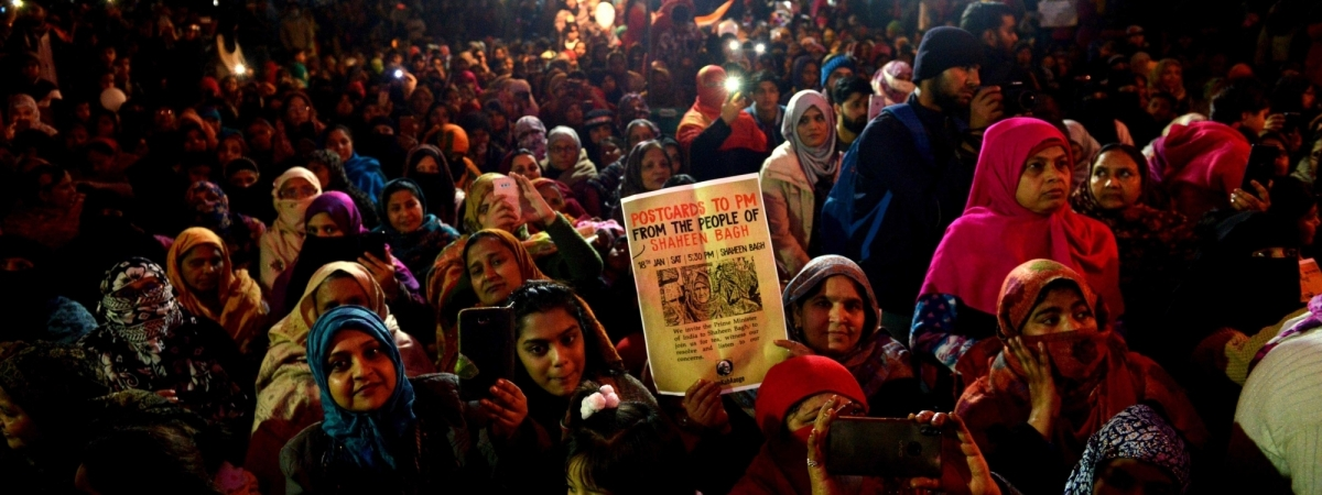 File photo of women staging a demonstration against the Citizenship (Amendment) Act (CAA) 2019, National Register of Citizens (NRC) and National Population Register (NPR), at Shaheen Bagh in New Delhi on January 18, 2020.