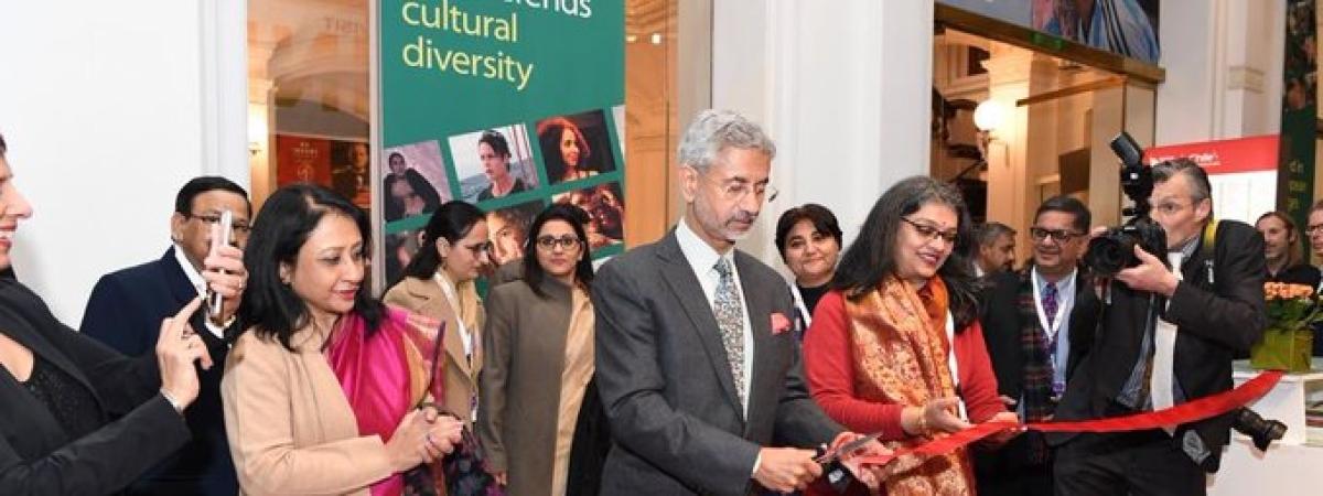 External Affairs Minister S Jaishankar inaugurating the Indian Pavilion at the 70th Berlin International Film Festival in Berlin on February 19, 2020.