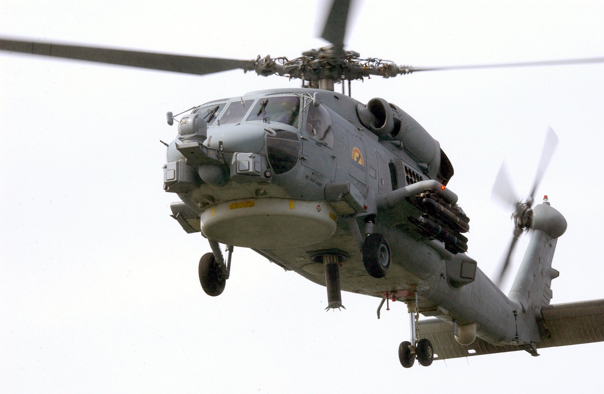 A MH-60R Seahawk helicopter