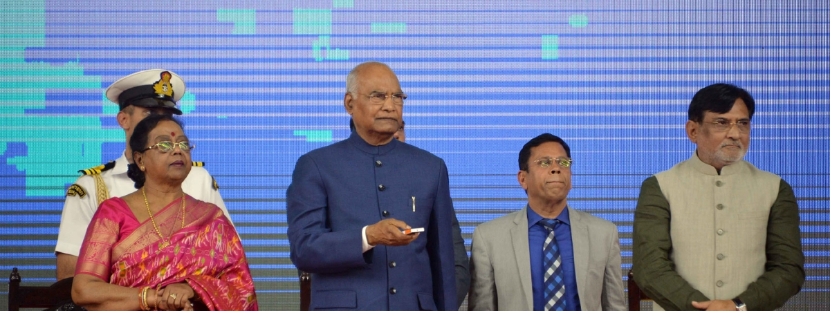 President Ram Nath Kovind launching various developmental projects of Dadra & Nagar Haveli and Daman & Diu, in Daman on February 17, 2020.