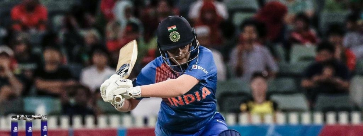 India's Shafali Yadav in action during the match against Bangladesh in the Women's T20 World Cup, at Perth in Australia on February 24, 2020.