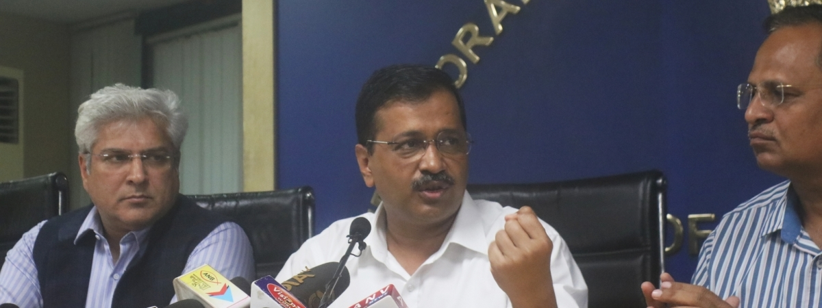 Delhi Chief Minister Arvind Kejriwal addressing a press conference in New Delhi, on March 19, 2020