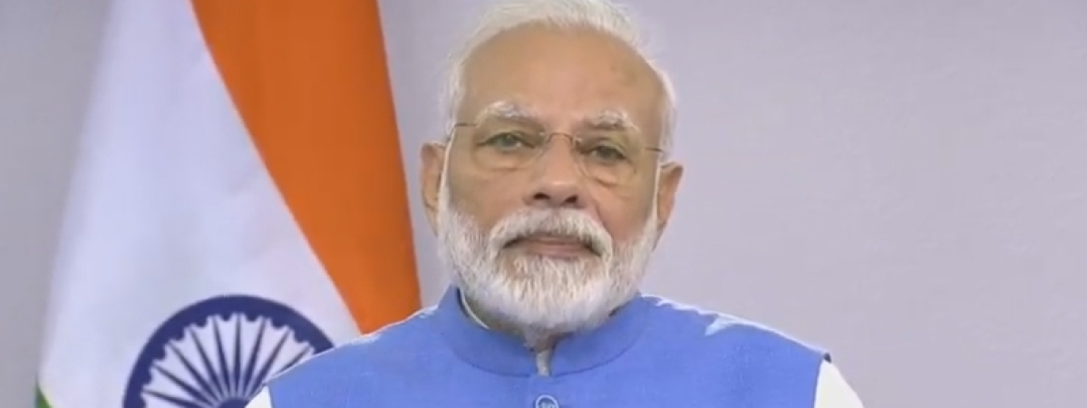 Prime Minister Narendra Modi addressing the nation about the coronavirus crisis on March 19, 2020.