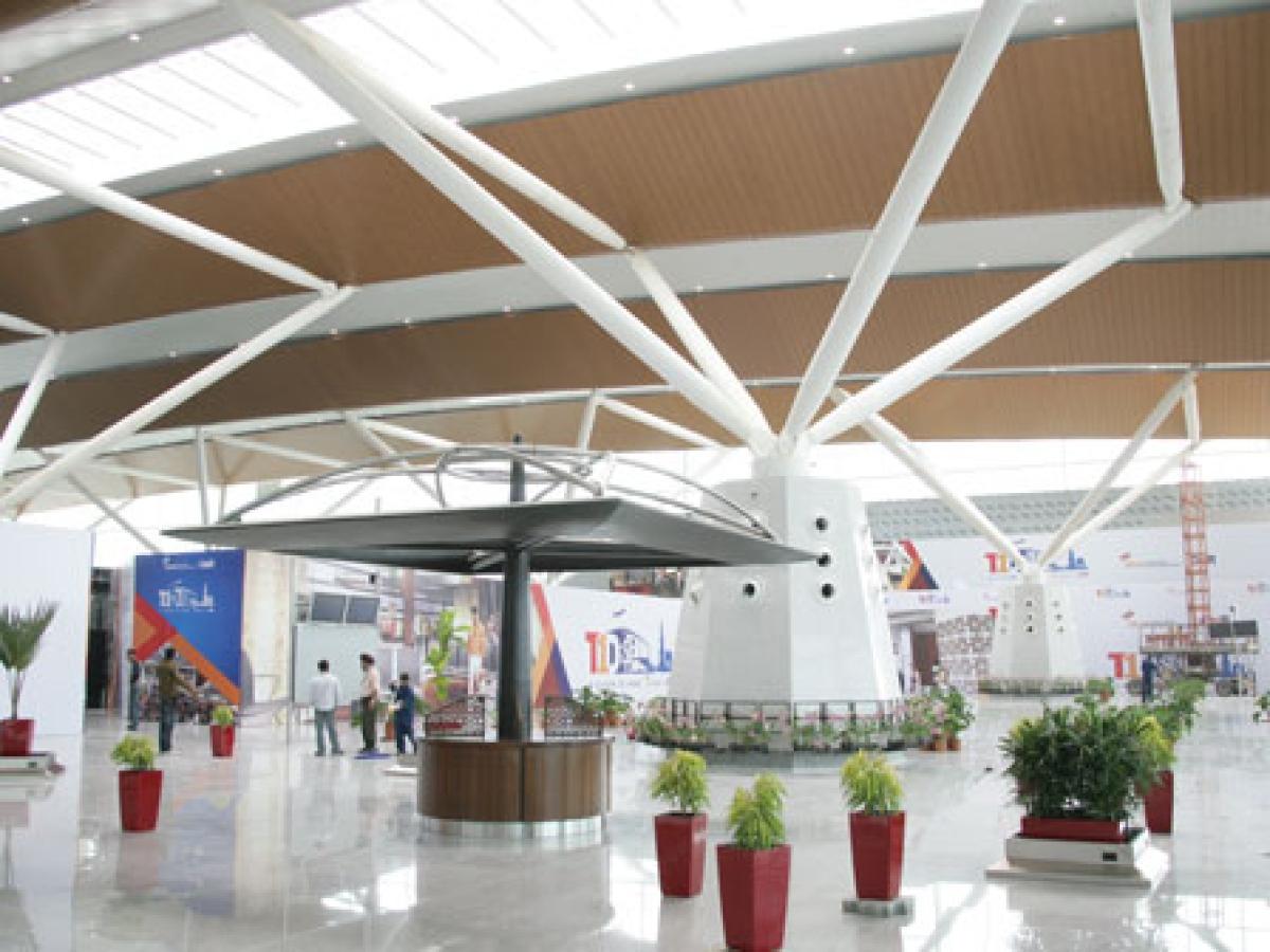 A view of Terminal T-1D at Indira Gandhi International Airport, Delhi.