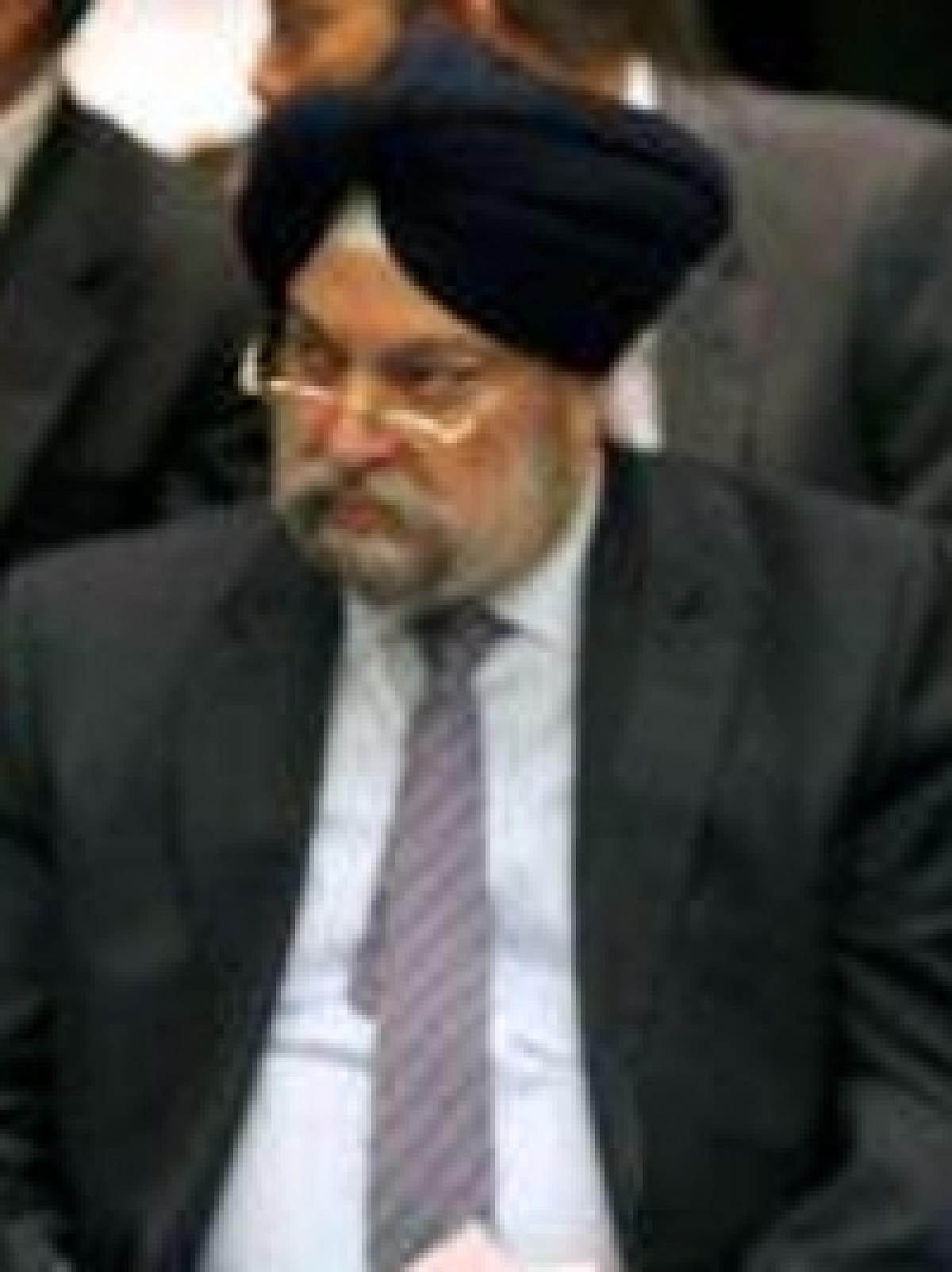 File photo of Mr Hardeep Singh Puri