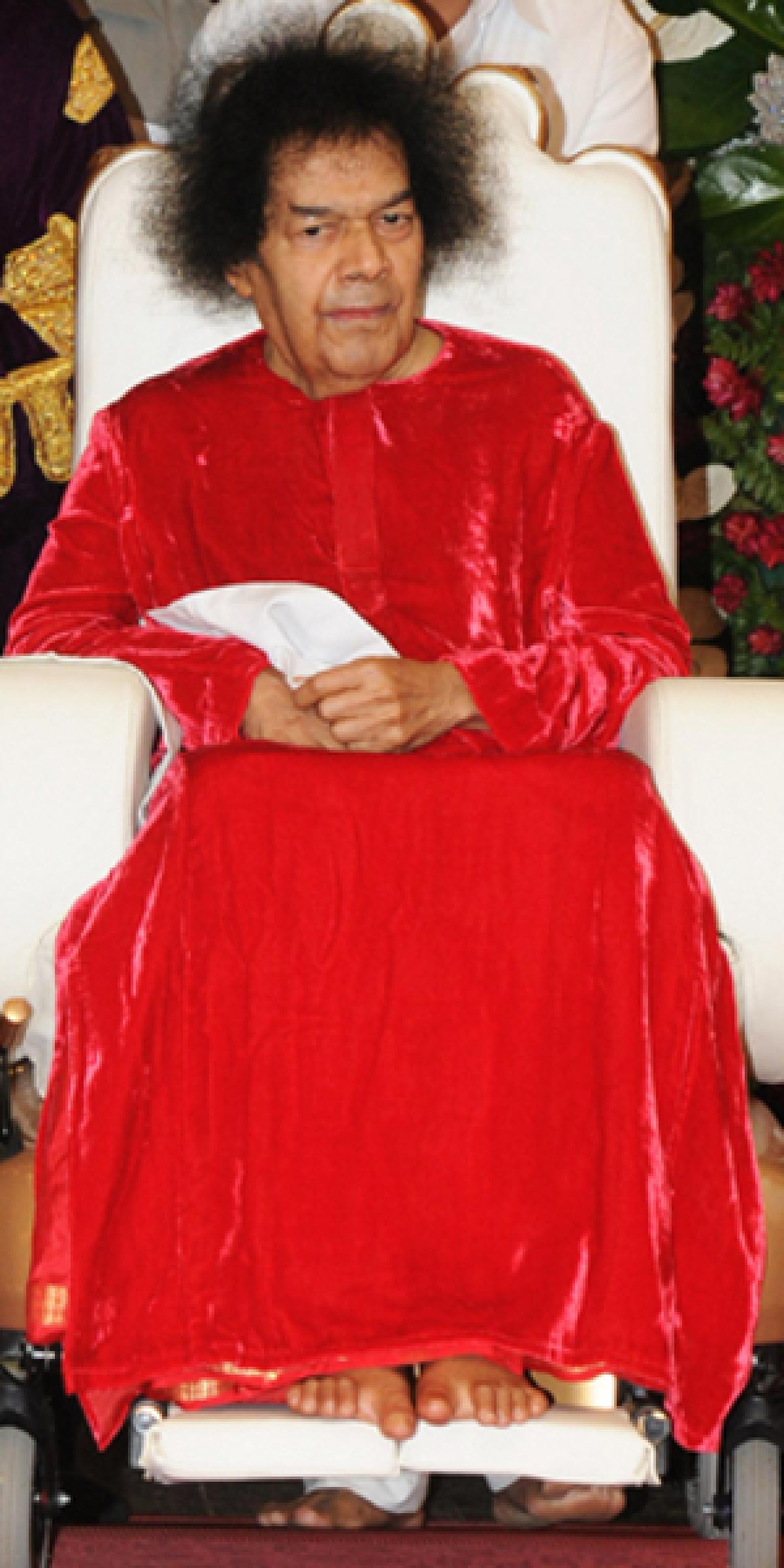 File photo of Sri Sathya Sai Baba.