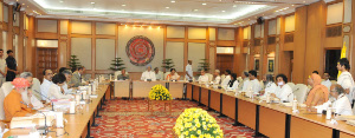 File photo of Prime Minister Manmohan Singh chairing the meeting of the National Ganga River Basin Authority, in New Delhi on April 17, 2012.