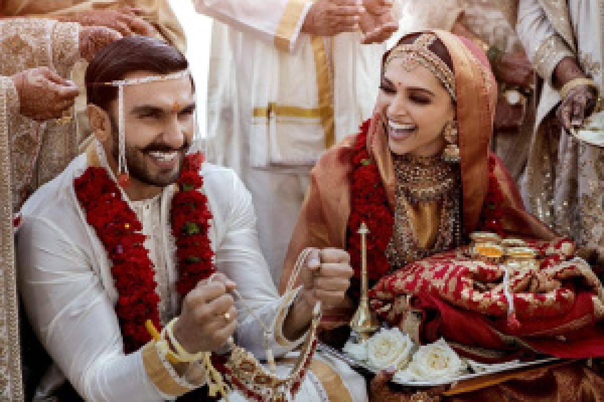 Image of her wedding with Ranveer Singh shared by Deepika Padukone on Twitter on November 15, 2018.