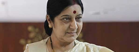 Jadhav's wife, mother meet Sushma