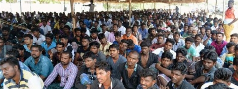 Fishermen strike work to protest sinking of fishing boat by Sri Lankan Navy