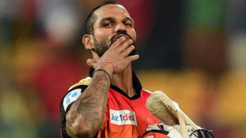 IPL 2018 : Shikhar Dhawan retained by Sunrisers Hyderabad for Rs. 5.2 Cr