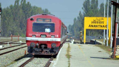 Train service suspended in Kashmir for security reasons