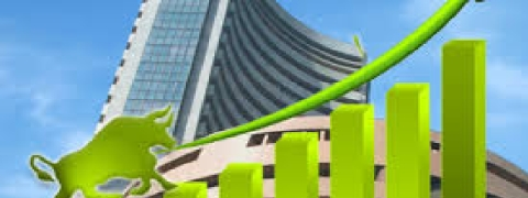 Sensex recovers by 266.07 pts