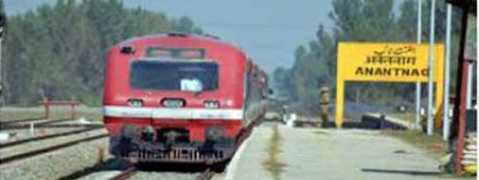 Train services resume in south Kashmir