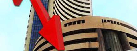 Markets crash on global trade war; Sensex down by 579 46 pts