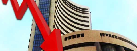 Sensex ends lower , bank stocks crash on fraud in PNB