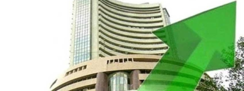 Sensex gains by 194.57 pts