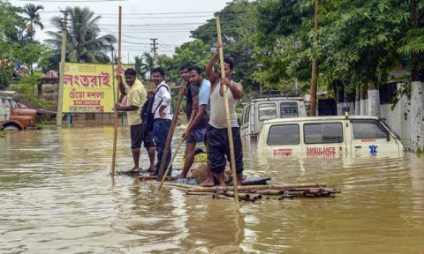 Flood Situation in Tripura improving