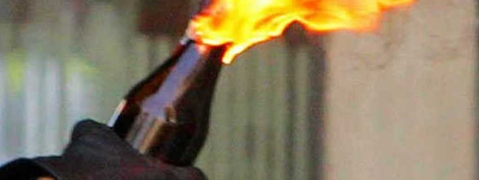 Petrol Bomb hurled in DMK meeting, one held
