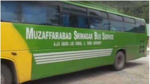 Karvan-e-Aman bus leaves to cross over to POK