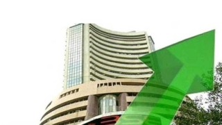 Sensex up by 326.11 pts