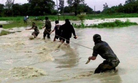 Flood hits North Tripura: IAF calls to rescue marooned families