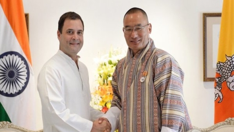 Bhutanese PM calls on Rahul Gandhi