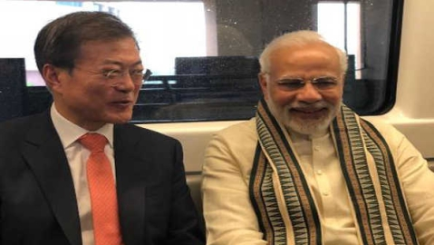 Korean Prez lauds Modi, describes Indians as generous