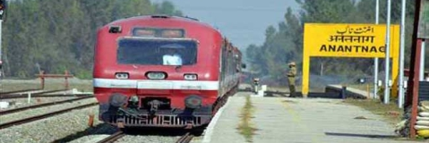 Train service again suspended in Kashmir