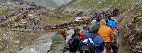 Amarnath yatra resumes from Baltal track after 3 days