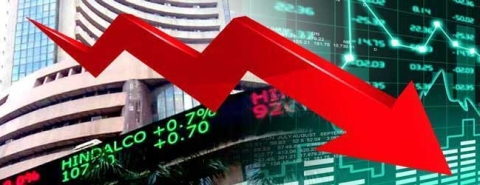 Sensex down by 56 points