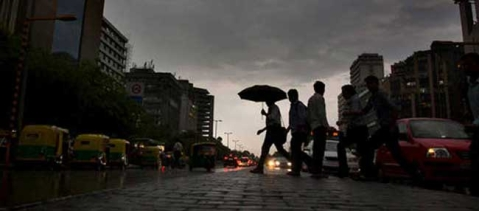 Heavy rain in Delhi brings respite from sultry weather