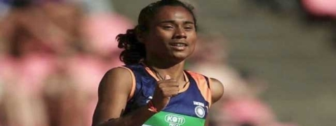 Hima Das clinches her fifth gold in 400m