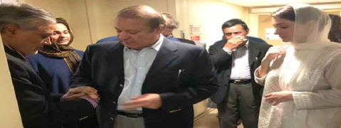 Ousted Pakistani Prime Minister Sharif, daughter leave London for Pakistan