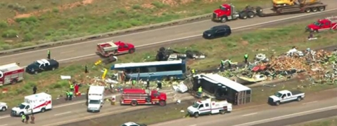 Seven dead in New Mexico after bus collides with truck
