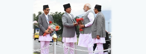 PM Modi arrives in Kathmandu for BIMSTEC summit