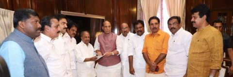Rajnath meets Kerala MPs, assures all possible help to state