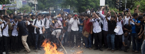 Nationwide student protests enter seventh day in Bangladesh