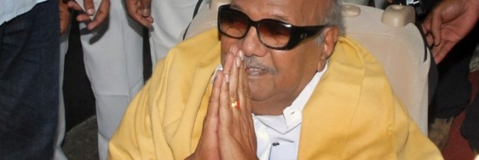 All-night court battle to get a resting placefor Karunanidhi